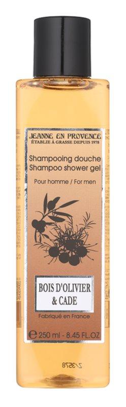 Jeanne en Provence Olive Wood & Juniper sprchový gél pre mužov 250 ml
