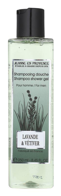 Jeanne en Provence Lavander & Vétiver Shower Gel for Men 250 ml