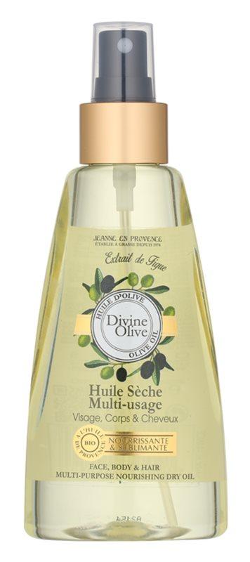 Jeanne en Provence Divine Olive óleo seco para rosto, corpo e cabelo