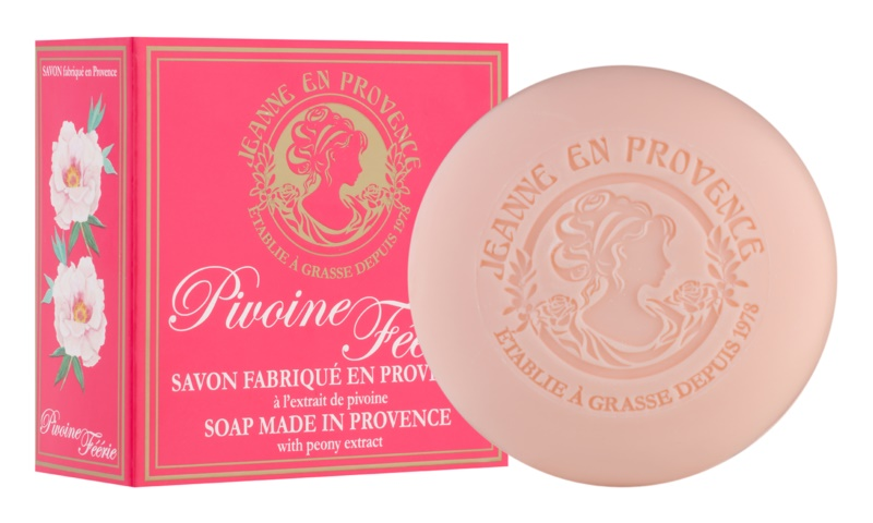 Jeanne en Provence Pivoine Féerie parfémované mydlo pre ženy 100 g