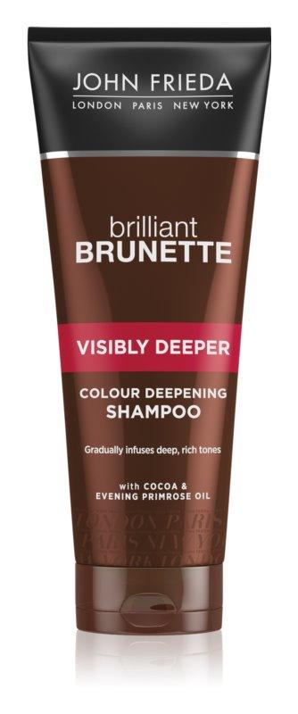 John Frieda Brilliant Brunette Visibly Deeper Radiance Shampoo For Brown Hair Shades