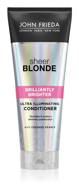 John Frieda Sheer Blonde Brilliantly Brighter Conditioner for Blonde Hair Recovery With Pearl Shine