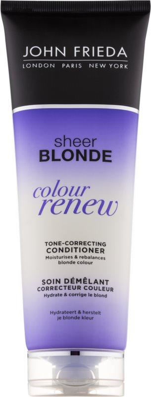 John Frieda Sheer Blonde Colour Renew tónovací kondicionér pro blond vlasy