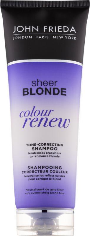 John Frieda Sheer Blonde Colour Renew tónovací šampon pro blond vlasy