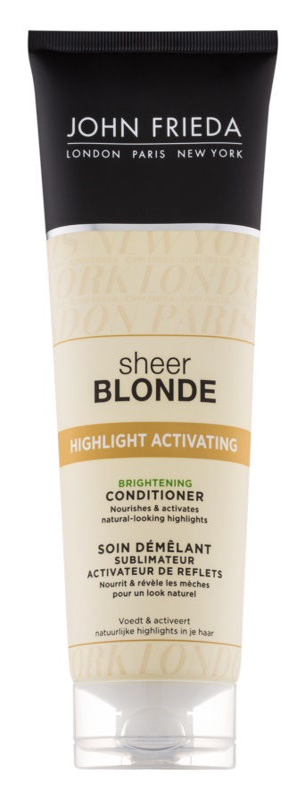John Frieda Sheer Blonde Highlight Activating кондиціонер з ефектом сяйва для освітленого волосся