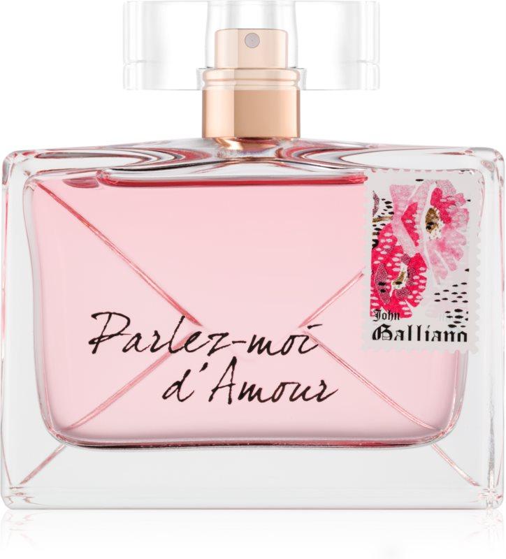 John Galliano Parlez-Moi d'Amour Eau de Parfum para mulheres 80 ml