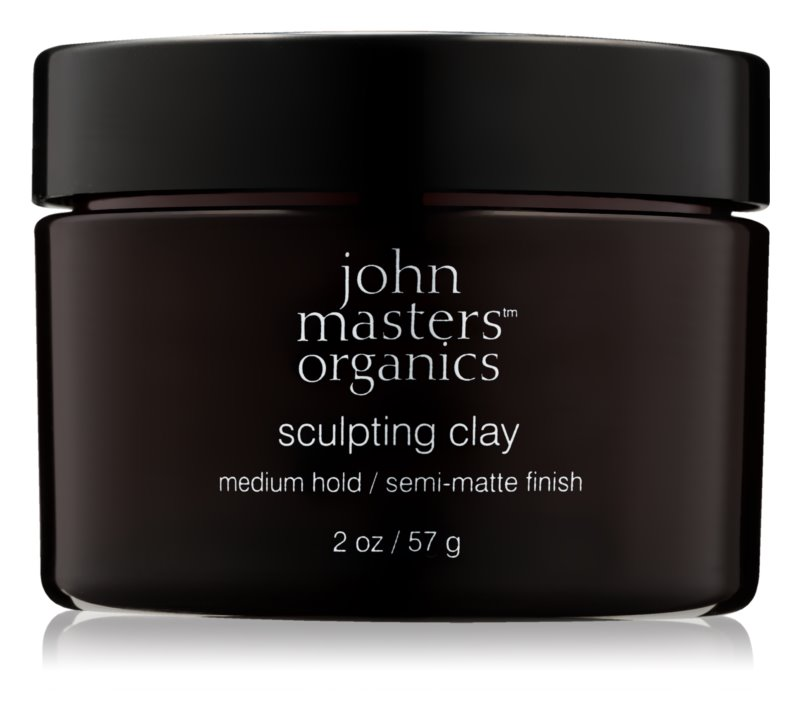 John Masters Organics Sculpting Clay Medium Hold pasta moldeadora de acabado mate
