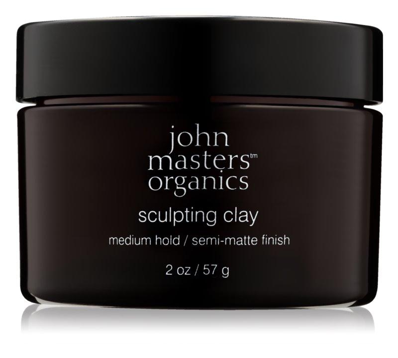 John Masters Organics Sculpting Clay Modelerende Klei  voor Matte Uitstraling