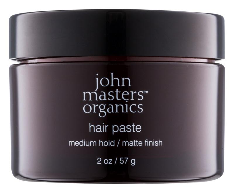 John Masters Organics Sculpting Clay Medium Hold modelujący krem  do włosów matujące