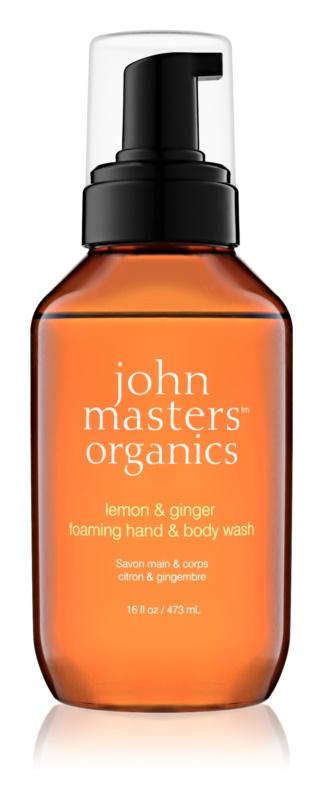 John Masters Organics Lemon & Ginger penové mydlo na ruky a telo