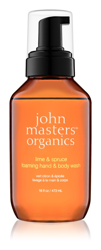 John Masters Organics Lime & Spruce Foaming Soap for Hands and Body