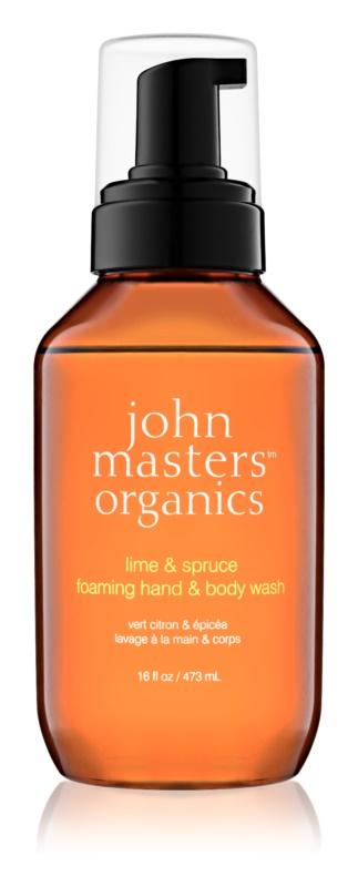 John Masters Organics Lime & Spruce penové mydlo na ruky a telo