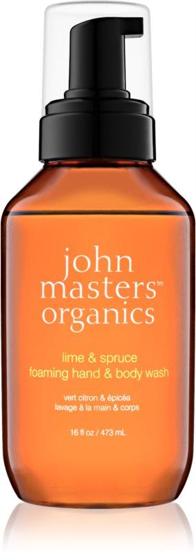 John Masters Organics Lime & Spruce săpun spumant pentru mâini și corp