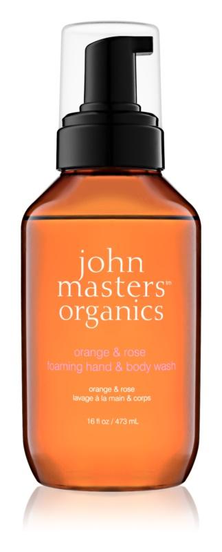 John Masters Organics Orange & Rose penové mydlo na ruky a telo
