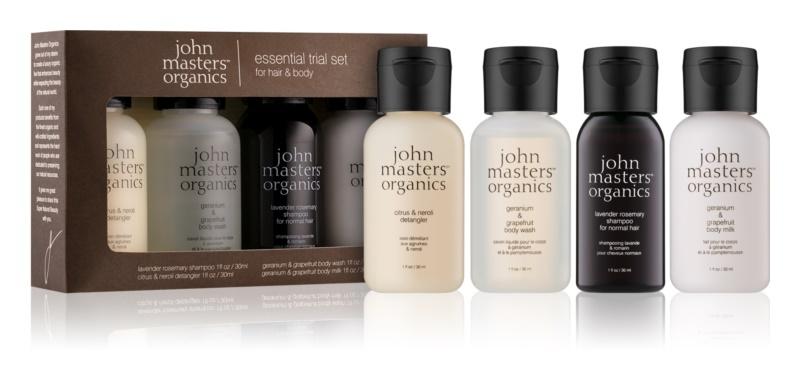 John Masters Organics Travel Kit Hair & Body Cosmetic Set IV.