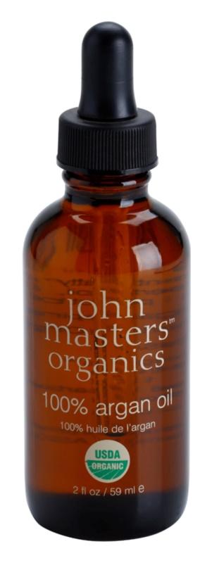 John Masters Organics 100% Argan Oil регенериращо олио за лице, тяло и коса