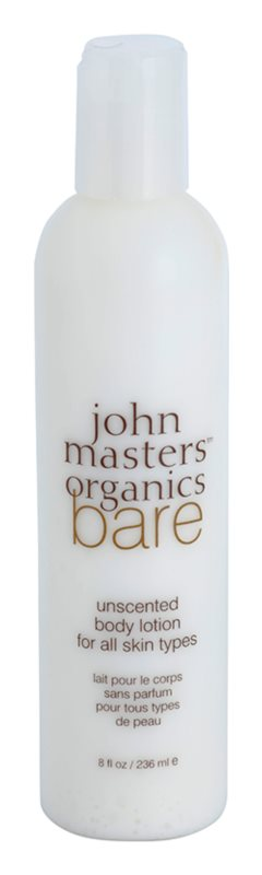 John Masters Organics Bare Unscented Body Lotion Fragrance-Free