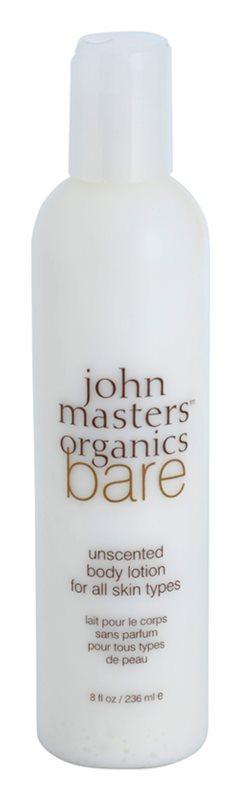 John Masters Organics Bare Unscented молочко для тіла без ароматизатора