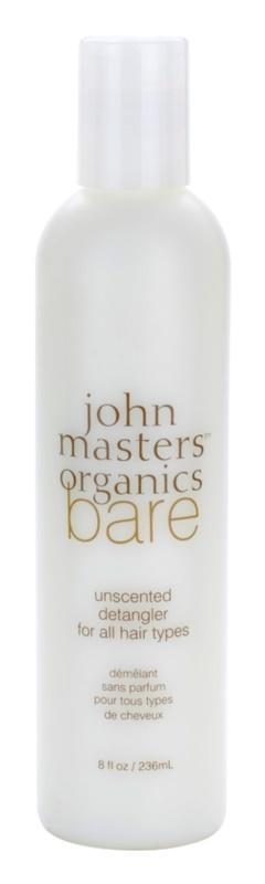 John Masters Organics Bare Unscented kondicionér pre všetky typy vlasov bez parfumácie