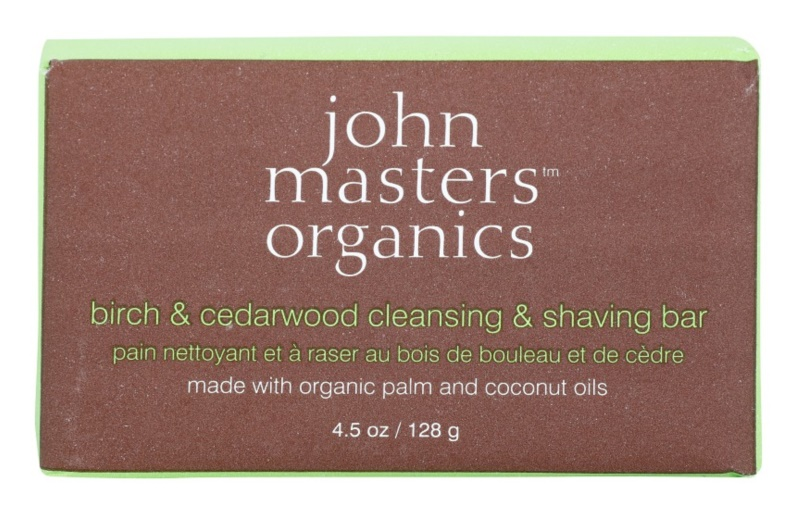 John Masters Organics Birch & Cedarwood  tisztító és borotva szappan férfiaknak és nőknek