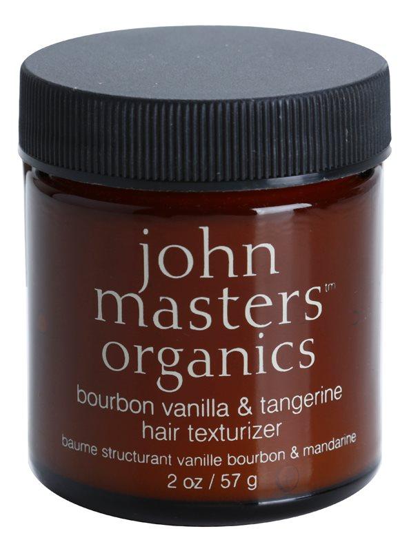 John Masters Organics Bourbon Vanilla & Tangerine formázó paszta a haj tökéletes kinézetéért