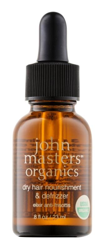 John Masters Organics Dry Hair Nourishment & Defrizzer óleo de cuidado para alisamento de cabelo