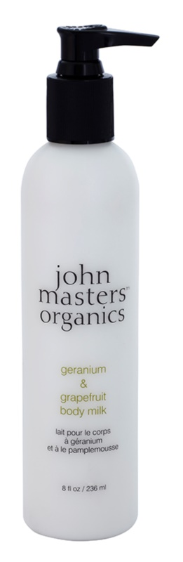 John Masters Organics Geranium & Grapefruit telové mlieko