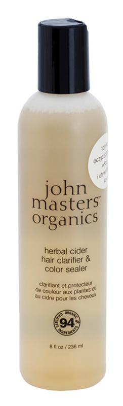 John Masters Organics Herbal Cider čisticí vlasová péče pro fixaci barvy