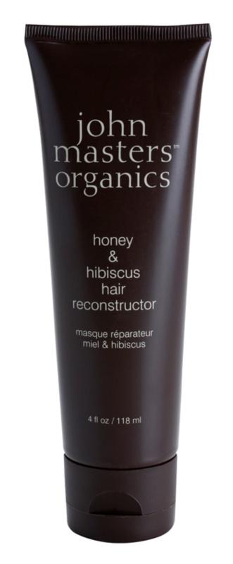 John Masters Organics Honey & Hibiscus obnovující maska pro posílení vlasů