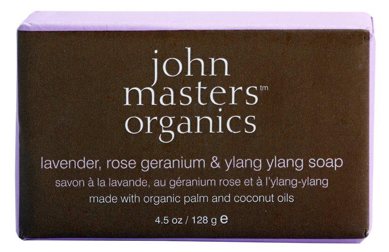 John Masters Organics Lavender Rose Geranium &  Ylang Ylang sapun hidratant pentru fata si corp