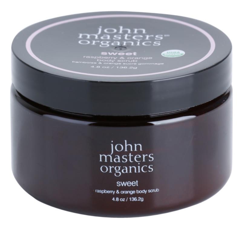 John Masters Organics Sweet Raspberry & Orange Body Scrub for Soft and Smooth Skin