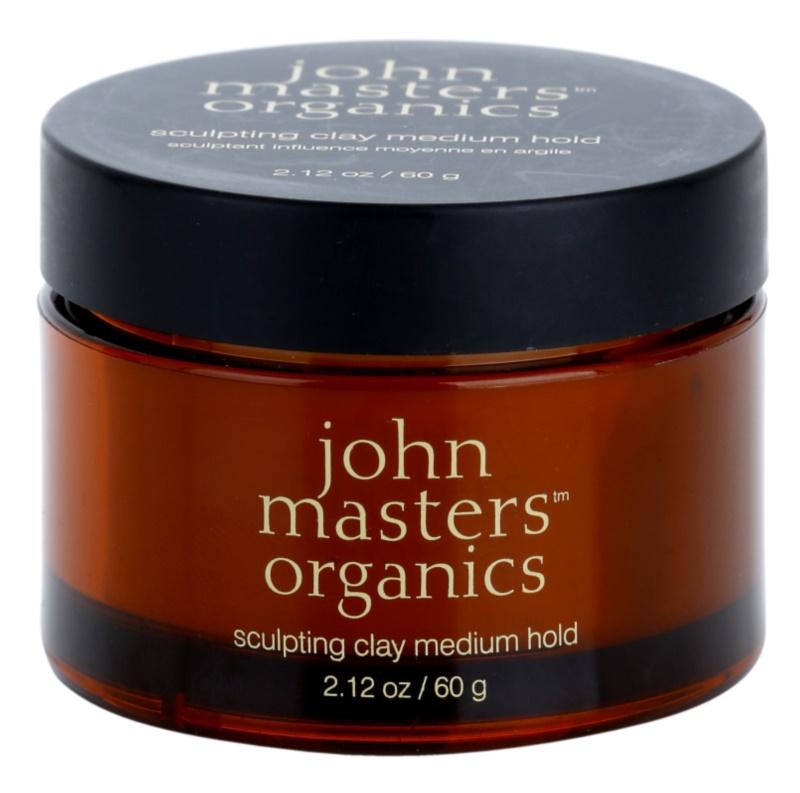 John Masters Organics Sculpting Clay Medium Hold pasta moldeadora fijación media