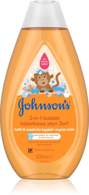Johnson's Baby Wash and Bath banho de espuma e gel de duche 2 em 1