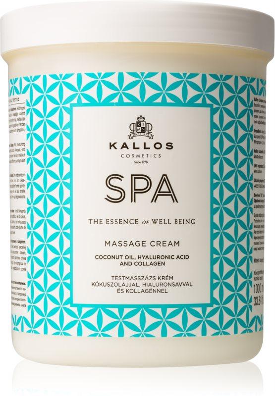 Kallos BodyArt masážny krém s kokosovým olejom, kyselinou hyalurónovou a kolagénom