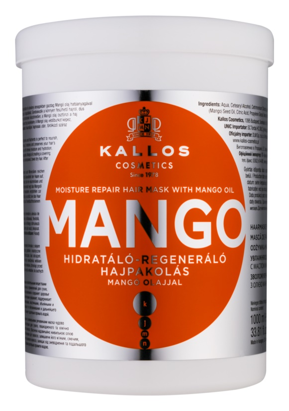 Kallos KJMN stärkende Maske mit Mangoöl