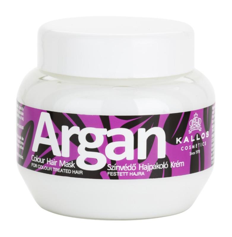 Kallos Argan máscara para cabelo pintado