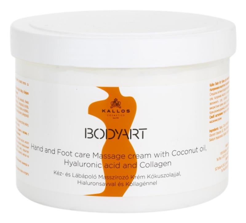 Kallos BodyArt crema para masaje para manos y pies