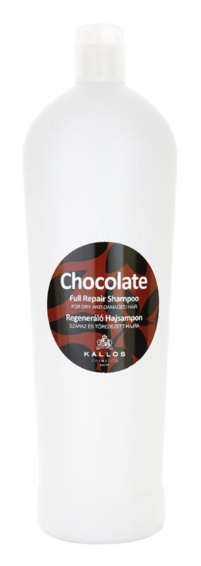 Kallos Chocolate champô regenerador para cabelo seco a danificado