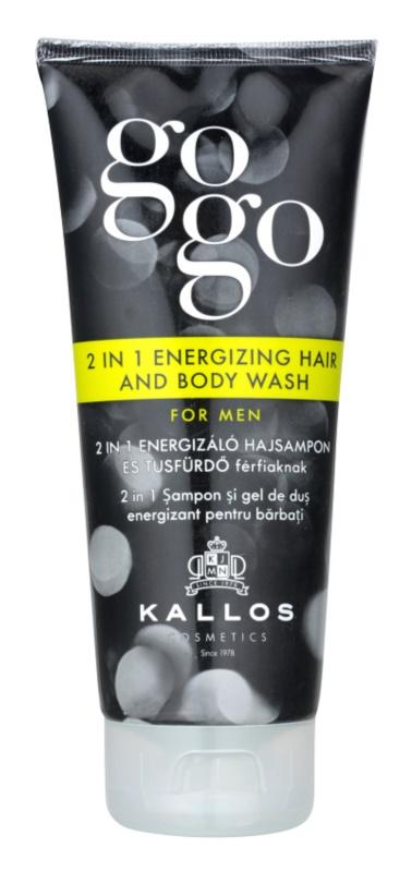 Kallos Gogo gel de ducha energizante para cuerpo y cabello