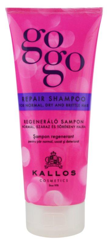 kallos gogo erneuerndes shampoo f r trockenes und zerbrechliches haar. Black Bedroom Furniture Sets. Home Design Ideas