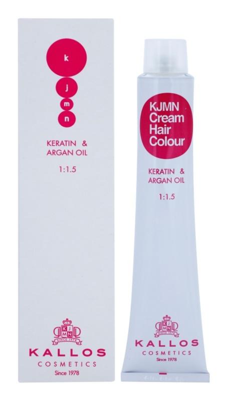 Kallos KJMN farba na vlasy s keratínom a argánovým olejom