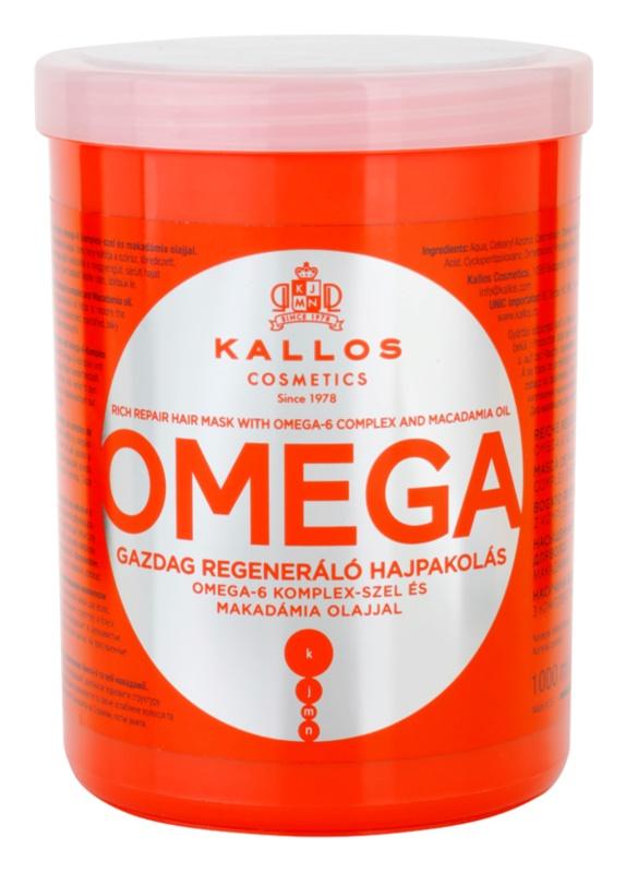 Kallos KJMN odżywcza maska do włosów z kompleksem omega-6 i olejkiem makadamia