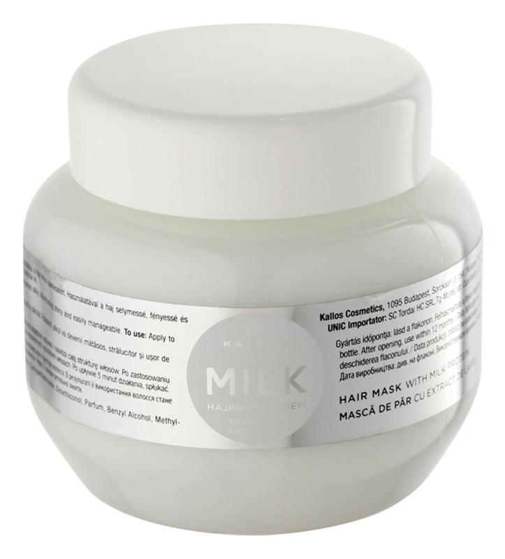 Kallos KJMN maseczka  z proteinami mleka