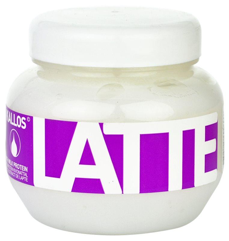 Kallos Latte máscara para cabelos danificados e quimicamente tratados