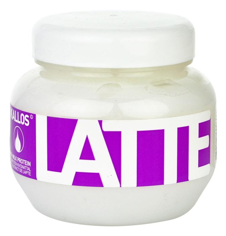 Kallos Latte maszk sérült, vegyileg kezelt hajra