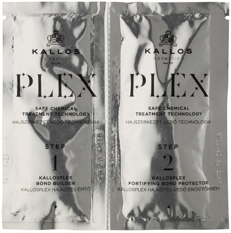 Kallos Plex cuidado protetor e restaurador em duas etapas para cabelo quimicamente tratado