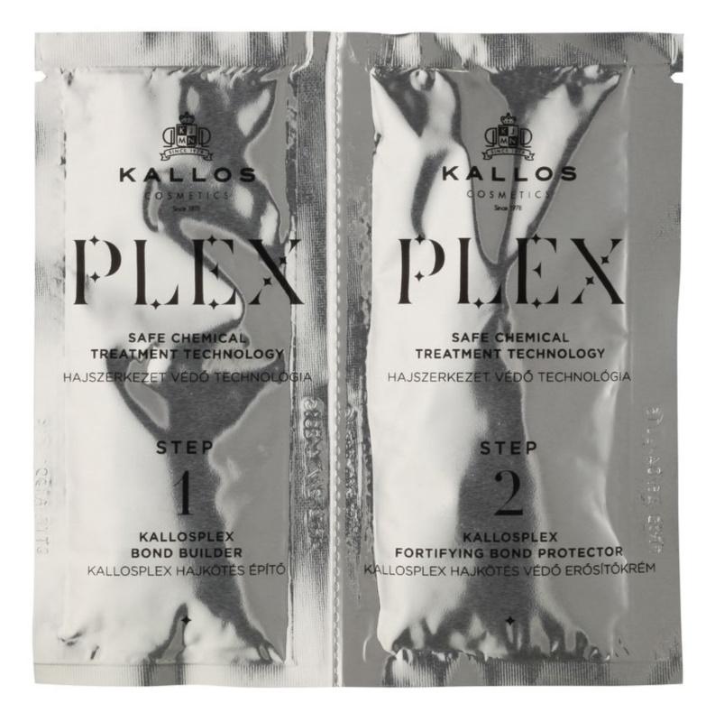 Kallos Plex schützende und regenerierende Pflege in zwei Schritten für chemisch behandeltes Haar