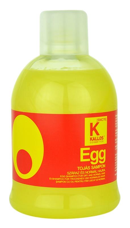 Kallos Egg Shampoo mit ernährender Wirkung für trockenes und normales Haar