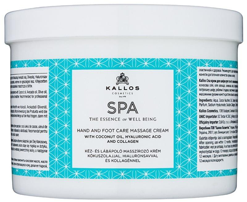 Kallos Spa crema para masaje para manos y pies