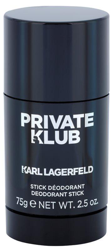 Karl Lagerfeld Private Klub dezodorant w sztyfcie dla mężczyzn 75 g
